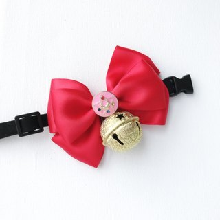 Limited Edition House of Cats Handmade Pet Bow Collar with Bell