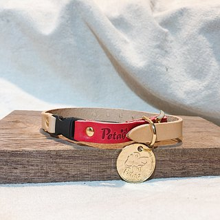 (Set) Cat Safety Buckle - Qrcode Pet Smart Collar Leather Collar (SS) + Golden Circle