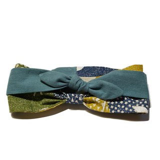 Deer Lita original design hair band Japanese cotton and linen Nordic style cool color art retro multi-purpose headband