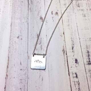 MIH Metalworking Jewelry | Symbol Series <Mountain> Sterling Silver Necklace sterling silver necklace