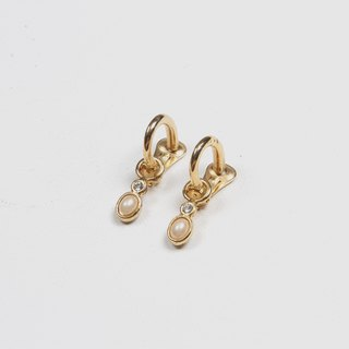 [Egg Plant Vintage] Qiaosi Ring Clip-on Antique Earrings