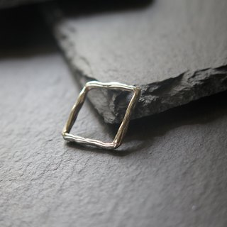único Series - Square  (925 Sterling Silver Ring / Pendant)