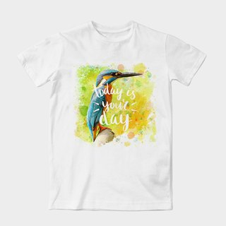 Neutral short-sleeved T-Shirt |. Today is your day by dragging artwork Wang | Z999UT024