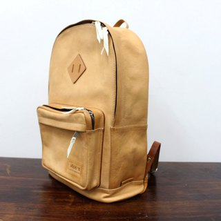MOOS Backpack Italian half boiled vegetable tanned saddle leather