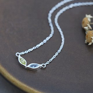Cats Eye cat eyes necklace silver925