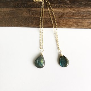 Labradorite long necklace