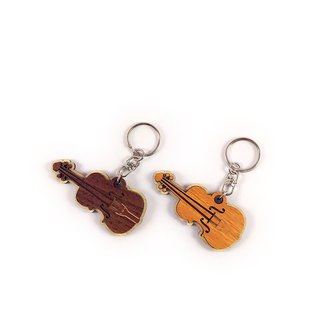 Woodcarving Keyring - Violin