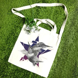 Star-straight canvas bag