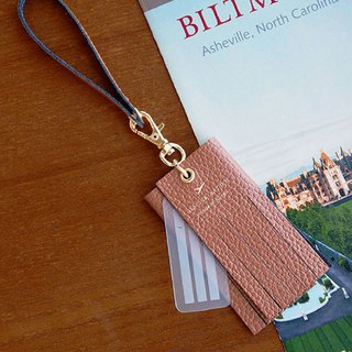 PLEPIC beautiful holiday tassel strap luggage tag - bronze brown, PPC93884