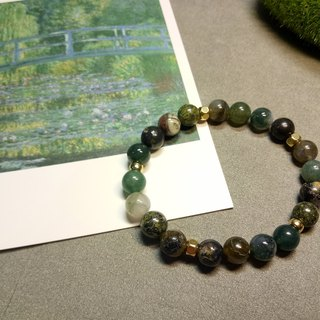 Riverside / natural stone beads / painting series