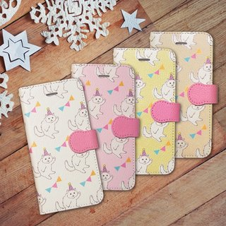 Notebook type phone case - Party Cat -