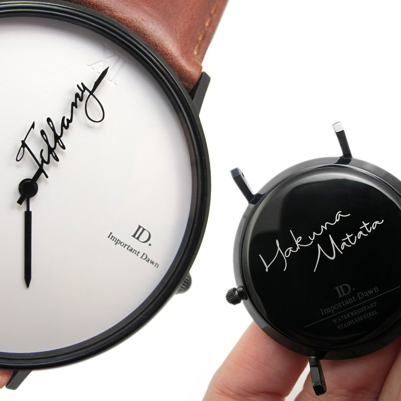 Customized watch gift limited set (customized pointer + back cover engraving)