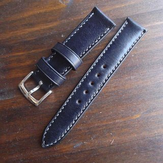 Italy saddle leather strap hand-made handmade leather goods tanned leather hand-sewn hand-made this section for the navy blue