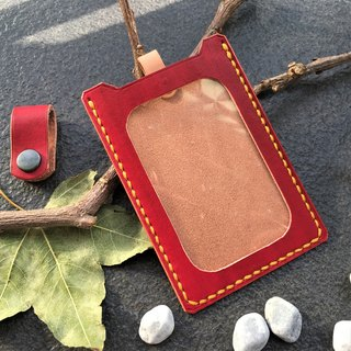 Hin window leather art - handmade leather - straight identification card sets of hand-made vegetable tanned chrome tanned customized custom Wen-ching