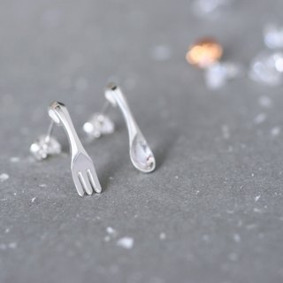 Spoon & Fork earrings 925 Sterling Silver