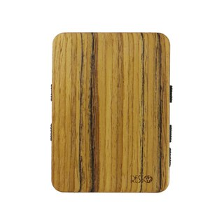 Resso European Handmade Wooden Business Card Holder Log Series - Teak