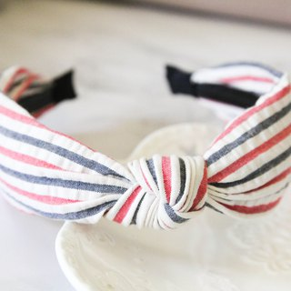 Summer ocean wind stripe hair band headband