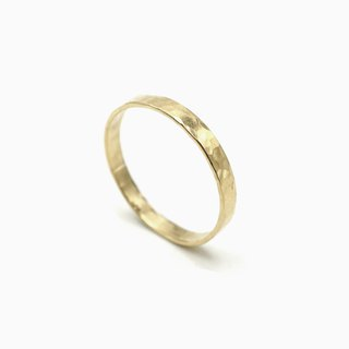 Minimal Hammered Gold Band Ring - 14K Gold Filled - Hammered Ring - Simple Gold