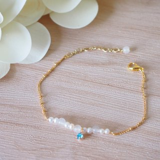 Anniewhere | Innocent & Obscure | White Jade Pearl Bracelet/Anklet/Necklace