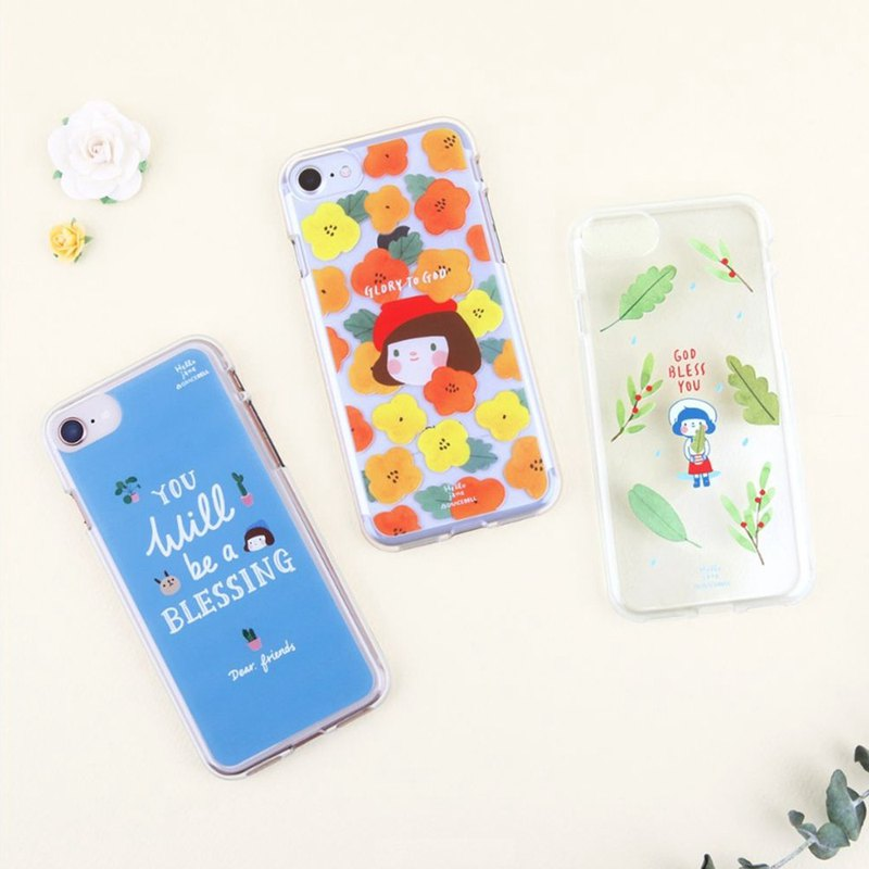 啰Jenny transparent jelly mobile phone shell a total of 20 patterns can be customized