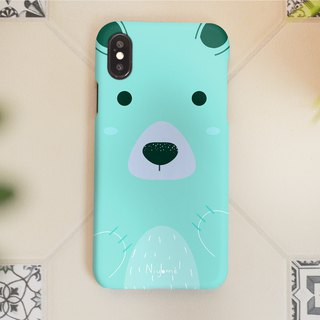 the mint blue bear iphone case สำหรับ iphone7 iphone 8 iphone 8 plus iphone x