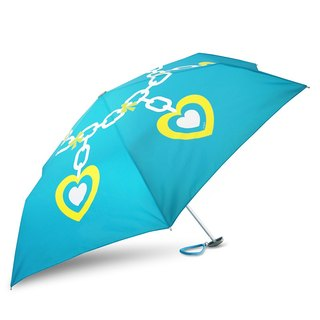 Ultra Lightweight Manual Compact Umbrella - Heart Charm