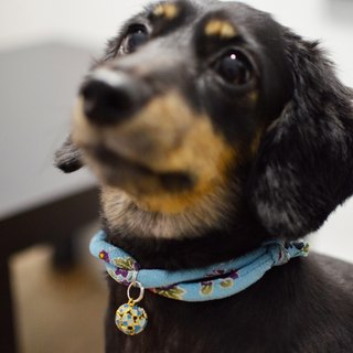 Japanese kimono dog collar & cat collar【Adjustable】dimgray_M size