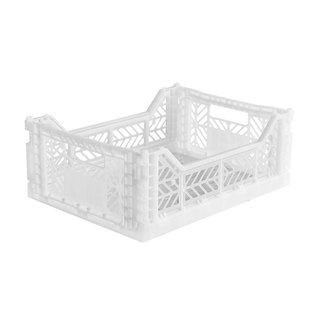 Turkey Aykasa folding basket (M) - crystal white