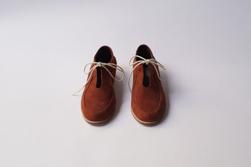 ZOODY / sandbar / handmade shoes / flat strap shoes / brick red