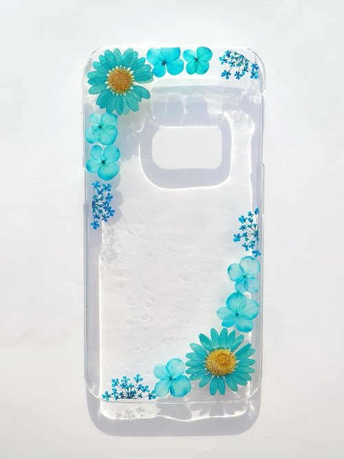 Anny's workshop hand-made pressed flower phone case, Samsung Galaxy S7 plus, beautiful photo frame (Summer Series)
