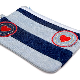Love Leaves its Mark Denim Pouch
