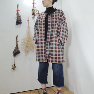 - Chicken Mother Dock - Retro Plaid Long Baseball Jacket