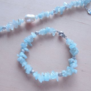Nature Aquamarine - Feburary Birthstone bracelet