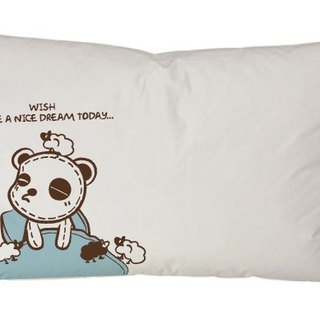 """Foufou"" pillow cover (single-entry) - hope to have a good sleep today Wish I have a Nice Dream Today (gray / white)"