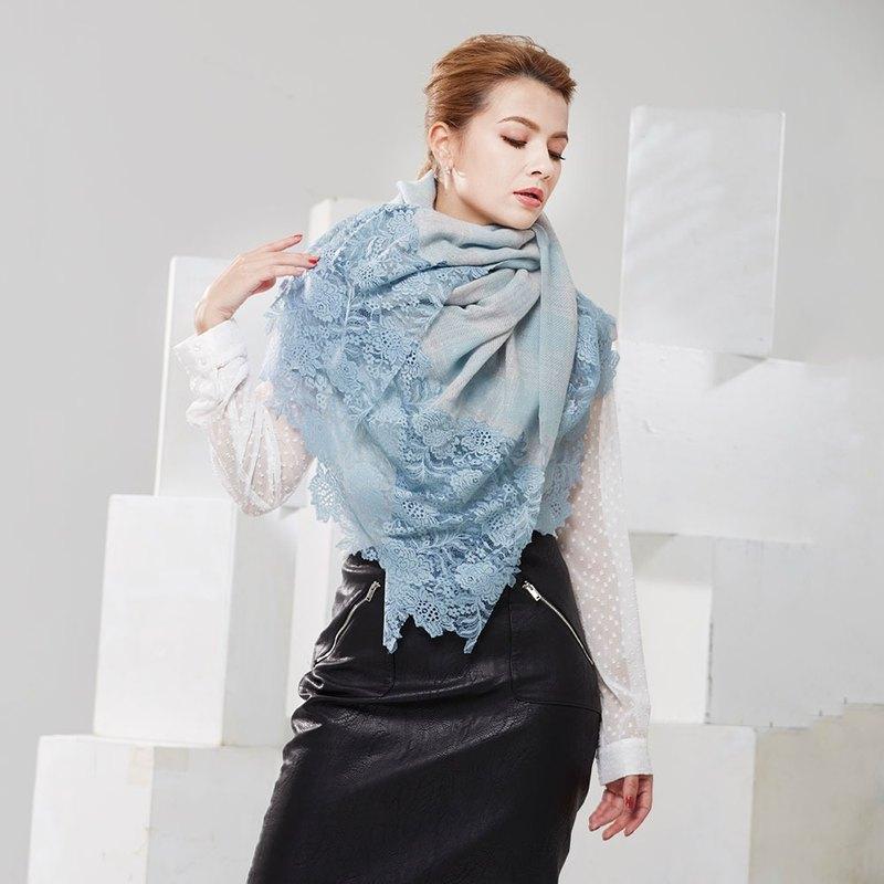 【Angel Woolen】格情雅韻Pashmina印度手工蕾絲披肩圍巾(共三色)