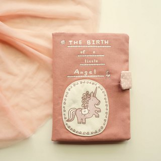 Twin version of the hand-painted Unicorn baby manual set (can be placed two manuals)