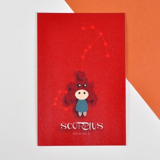 The 12 constellations character birthday card and postcard - Scorpius