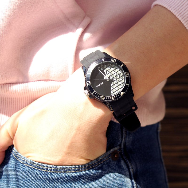 【PICONO】POP Circus Sport Watch - Happy Bird(Black) / BA-PP-03