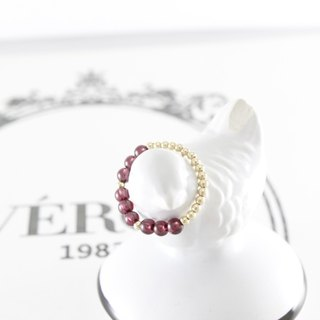 Life emerged Garnet Ring