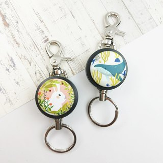 I good yo key ring series - summer new (two) - marine whale flower bunny rabbit