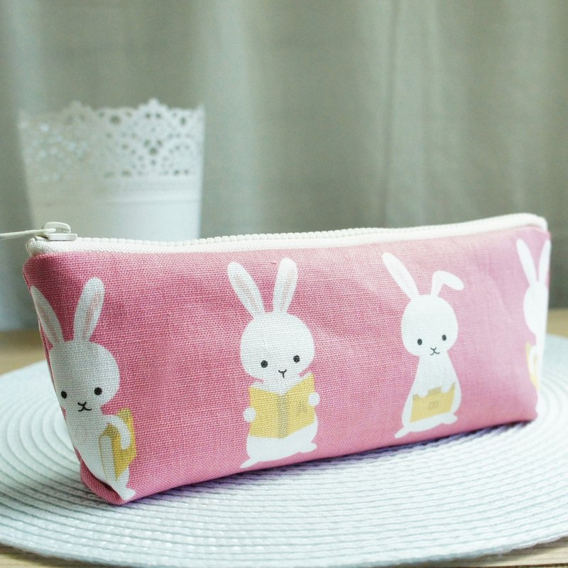 Lovely【日本布訂製】小兔子讀書筆袋、工具袋、粉