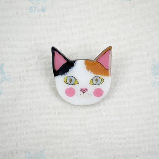 Smile cat - three cats pin 2