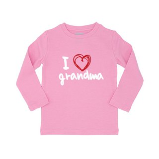 Long sleeved child T Tshirt I love grandma
