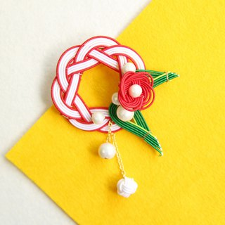 japanese style brooch / mizuhiki / japan / accessory / flower / present