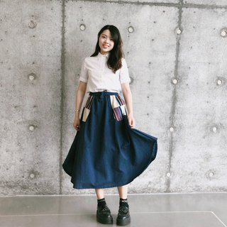 Summer takes a fan skirt | Dark blue