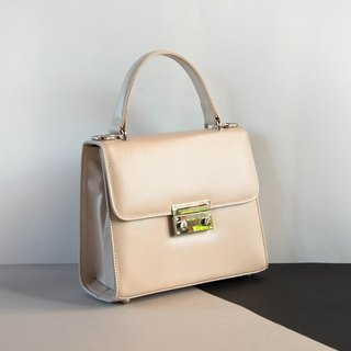 WOMEN CUTE MINIMAL LEATHER HANDBAG- WHITE