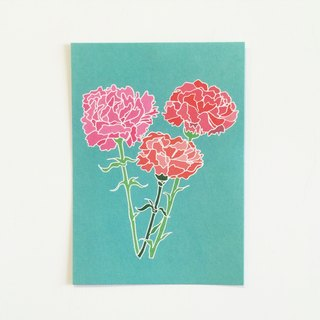 Mother's Day carnations at any time by postcard / card