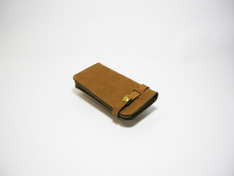 ● long wallet (cowhide, cattle bargue) _ _ make zuo zuo hand bag
