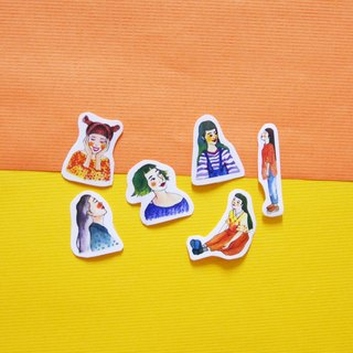 [Group] girl sticker girl sticker / PDA good helper