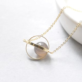 Heal the planet. universe. Golden Circle. Gray onyx. Necklace Healing Planet. Galaxy. Golden Ring. Agate Gray. Necklace. birthday present. Girlfriend gift. Sister gift